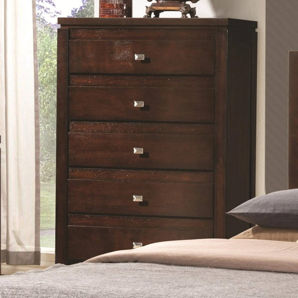 Cameron Transitional Rich Brown Wood Chest CST-203495