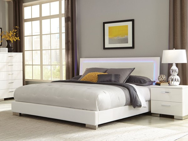 Coaster Furniture Felicity White 2pc Bedroom Set With Queen Bed The Classy Home