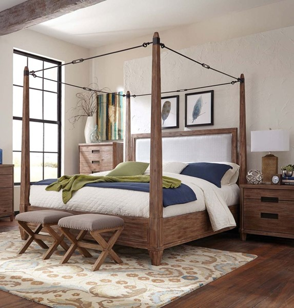 coaster furniture madeleine 2pc bedroom set with queen canopy bed the classy home. Black Bedroom Furniture Sets. Home Design Ideas