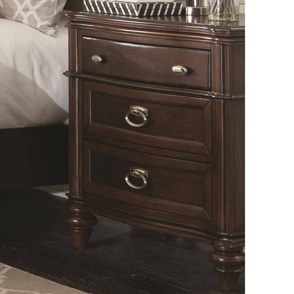 Sherwood Modern Red Brown Wood Night Stand CST-203612