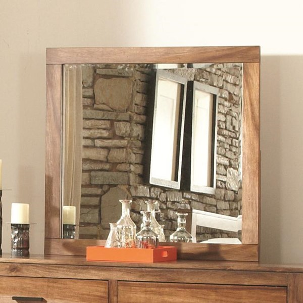 Peyton Traditional Brown Wood Glass Mirror CST-203654