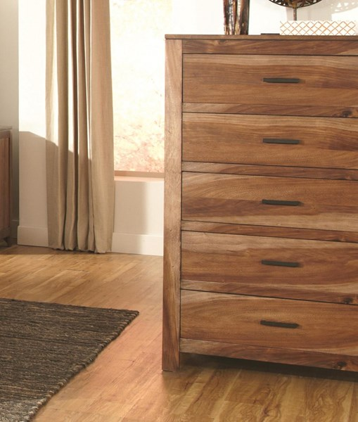 Peyton Brown Wood Chest CST-203655