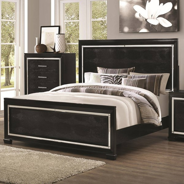 Zimmer Contemporary Black Wood Panel Beds CST-203721-BEDS