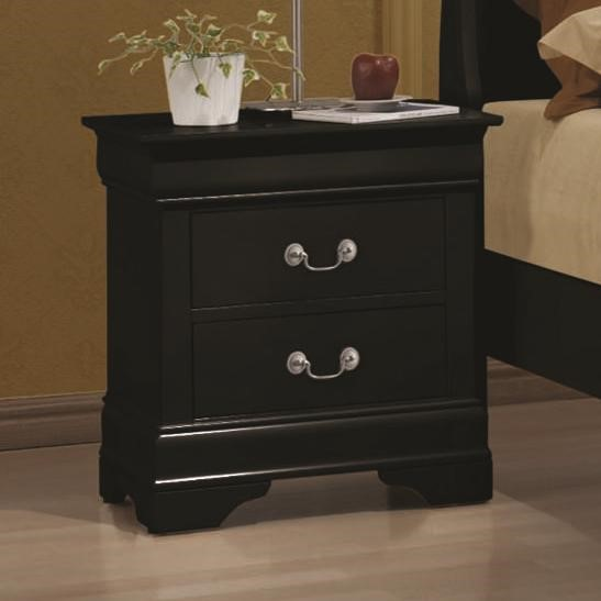 Louis Philippe Traditional Black Cherry Night Stand CST-203962-72-VAR