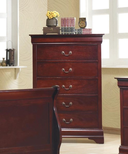 Louis Philippe Transitional Red Brown Chest CST-203975
