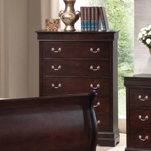 Louis Philippe Traditional Cappuccino Chest W/handles CST-203985N