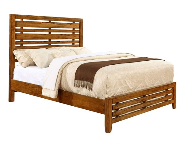 Cupertino Transitional Amber Wood Queen Bed CST-204021Q