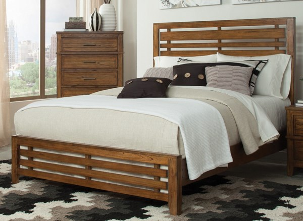Cupertino Transitional Amber Solid Wood Beds CST-20402-BEDS