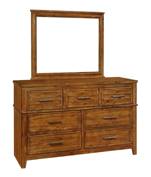 Cupertino Transitional Amber Wood Dresser CST-204023
