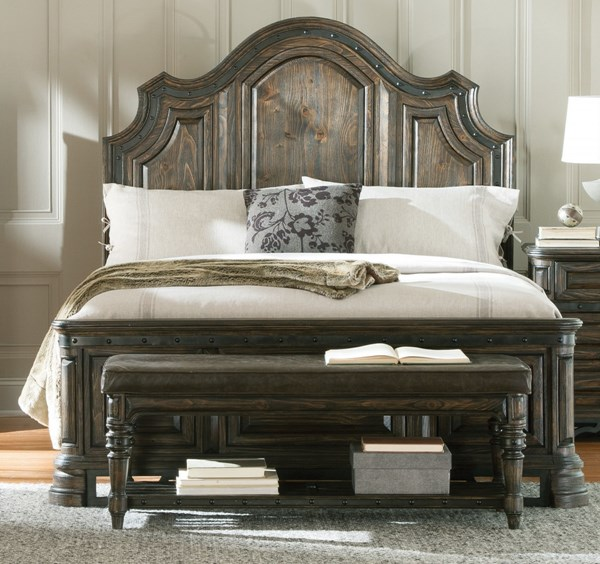Carlsbad Traditional Dark Brown Wood Cal King Beds CST-2040-BEDS-VAR