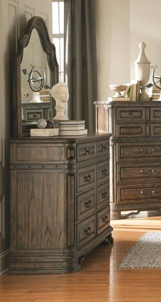 Carlsbad Traditional Dark Brown Wood Dresser & Mirror CST-204043-DRMR