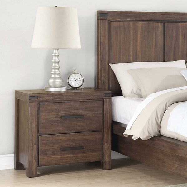 Lancashire Wire Brushed Cinnamon Wood Felt Lined Top Drawer Nightstand CST-204112