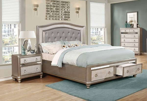 Coaster Furniture Bling Game 2pc Bedroom Set With Cal King