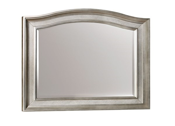 Bling Game Elegant Metallic Platinum Wood Glass Mirror CST-204184