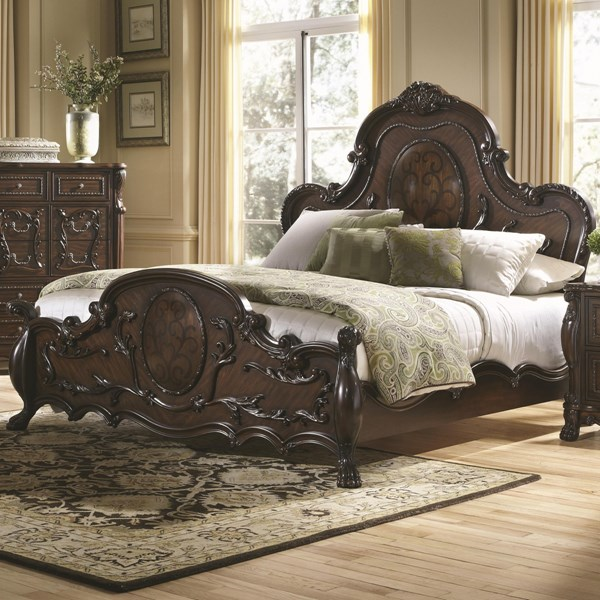 Abigail Traditional Cherry Wood Cal King Bed CST-204451KW