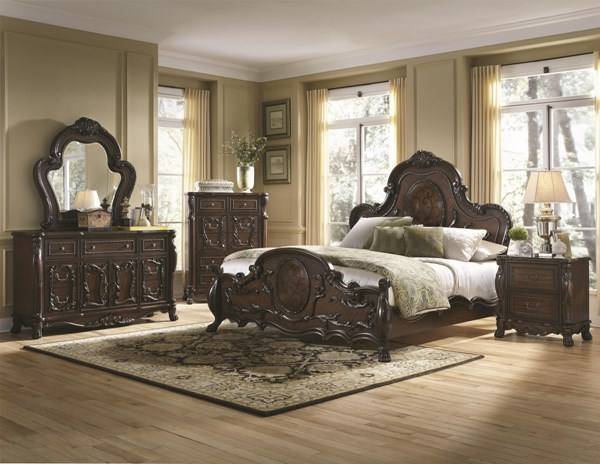 Abigail Traditional Cherry Wood Panel Beds CST-204451-BEDS