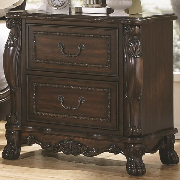 Abigail Traditional Cherry Wood Night Stand CST-204452