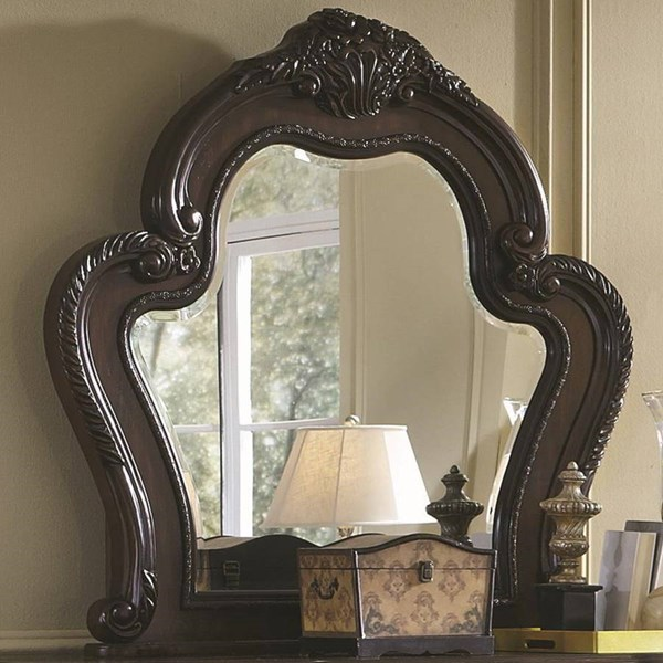 Abigail Traditional Cherry Wood Glass Mirror CST-204454