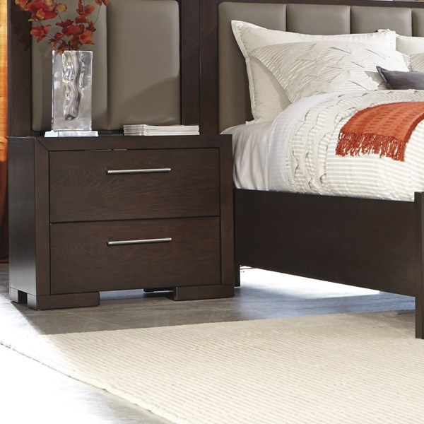 Berkshire Chocolate Full Extension Glide Drawer Wood Nightstand CST-204462