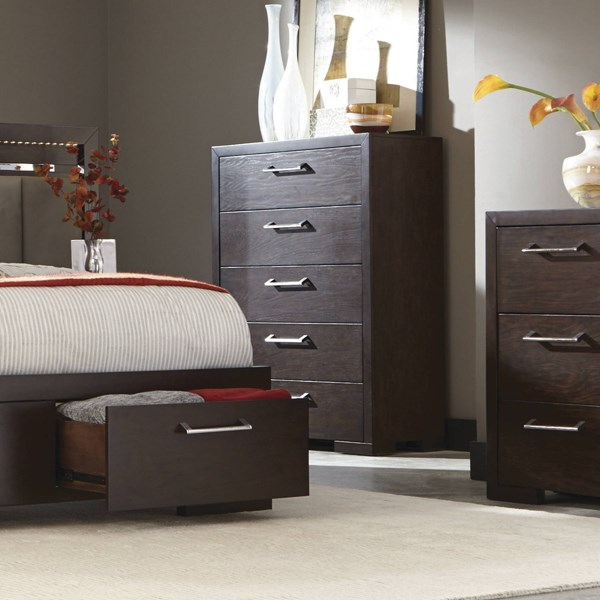Berkshire Chocolate Wood Full Extension Glide Drawer Chest CST-204465