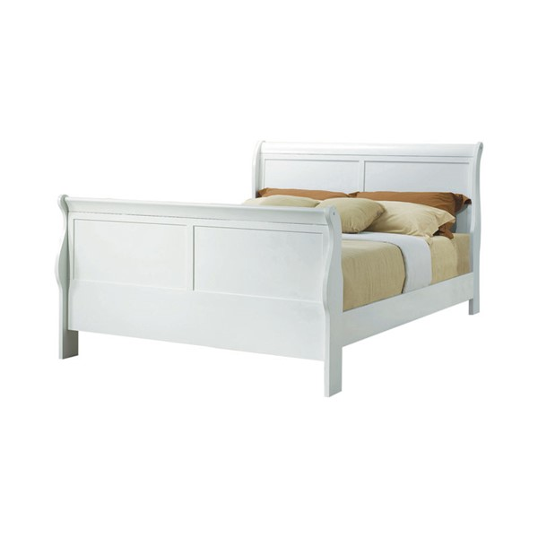Coaster Furniture Louis Philippe White Wood Queen Bed CST-204691Q
