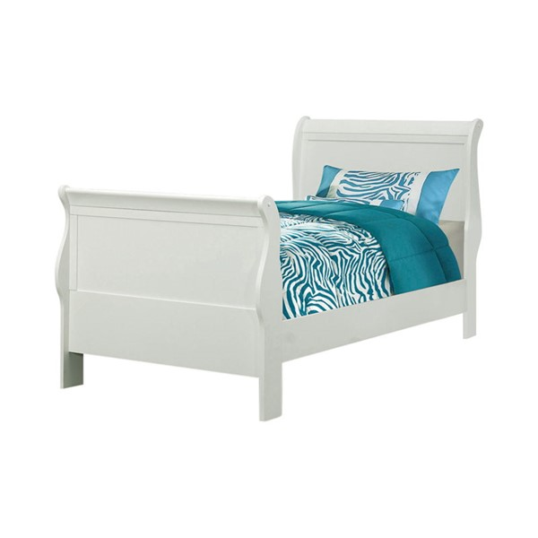 Coaster Furniture Louis Philippe White Wood Twin Bed CST-204691T