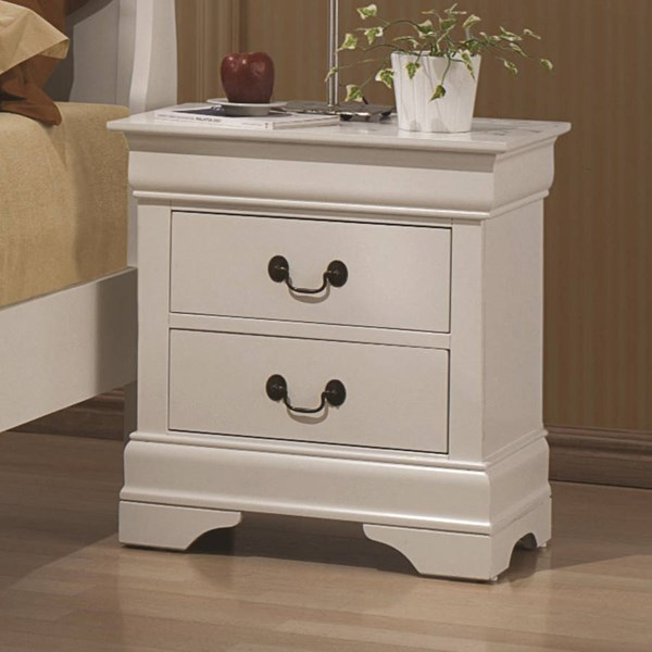Louis Philippe Classic White Wood Night Stand CST-204692
