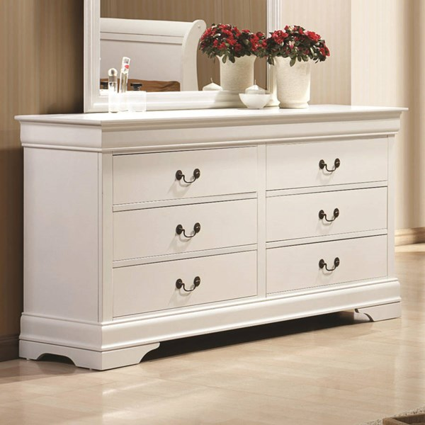 Louis Philippe Classic White Wood Dresser CST-204693