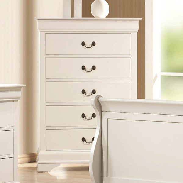 Louis Philippe Classic White Wood Chest CST-204695