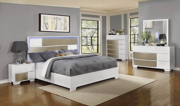 Havering Contemporary Blanco Wood 2pc Bedroom Set W/King Bed CST-20474-BR-S2
