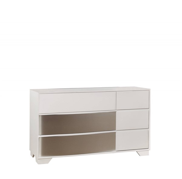 Havering Contemporary Blanco Wood Full Extension Glide Drawer Dresser CST-204743