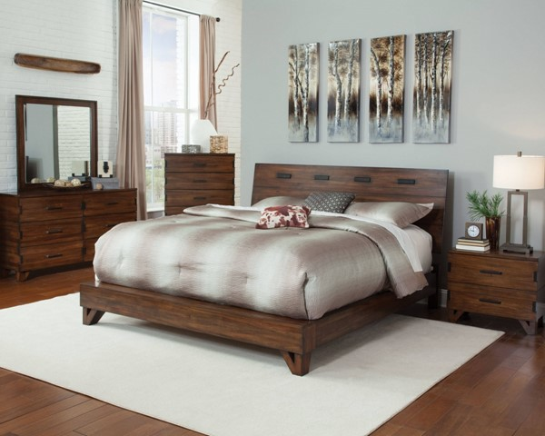 Yorkshire Contemporary Coffee Bean Wood Master Bedroom Set CST-20485-BR