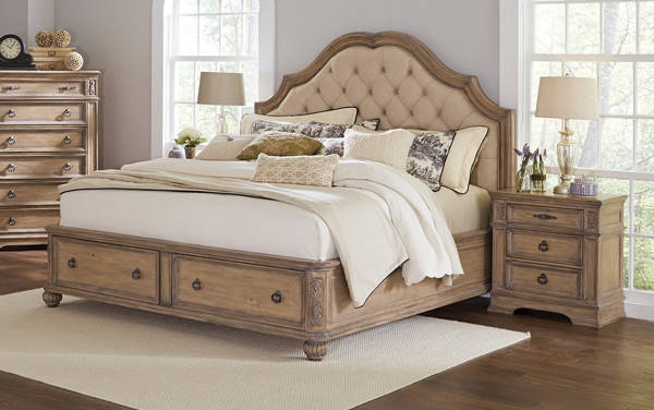 Coaster Furniture Ilana Linen 2pc Bedroom Set with Queen Bed