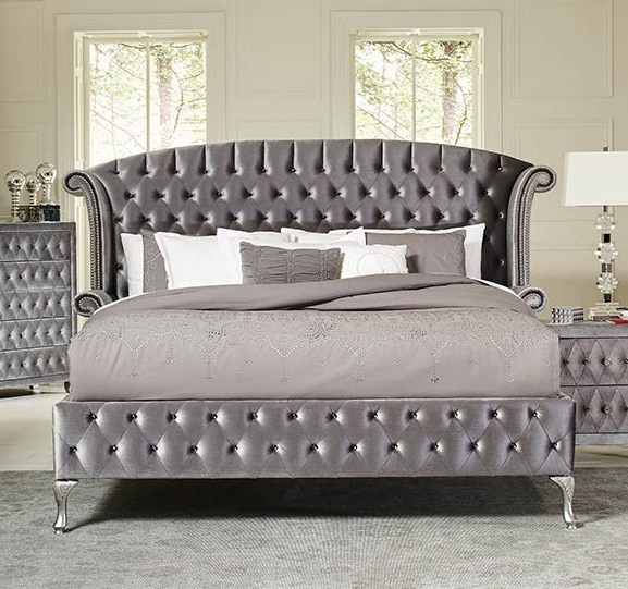 Coaster Furniture Deanna Grey Cal King Platform Bed CST-205101KW