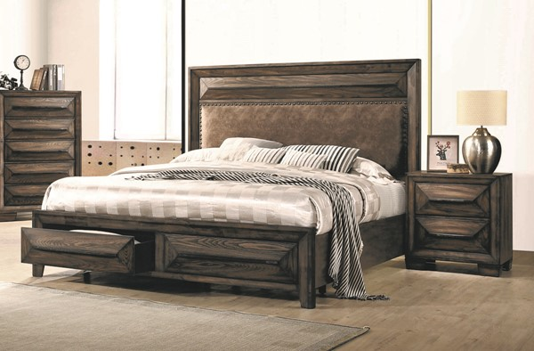 Coaster Furniture Preston Rustic Chestnut 2pc Bedroom Set with Queen Bed CST-20544-BR-S1