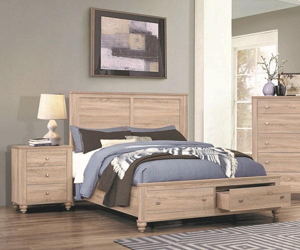 Coaster Furniture Wenham Natural Oak 2pc Bedroom Set with Full Storage Bed CST-20546-BR-S6