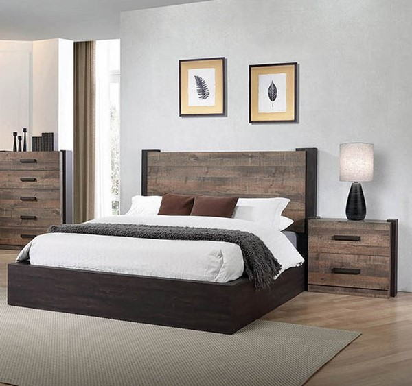 Coaster Furniture Weston Weathered Oak 2pc Bedroom Set with King Bed CST-206311-BR-S2