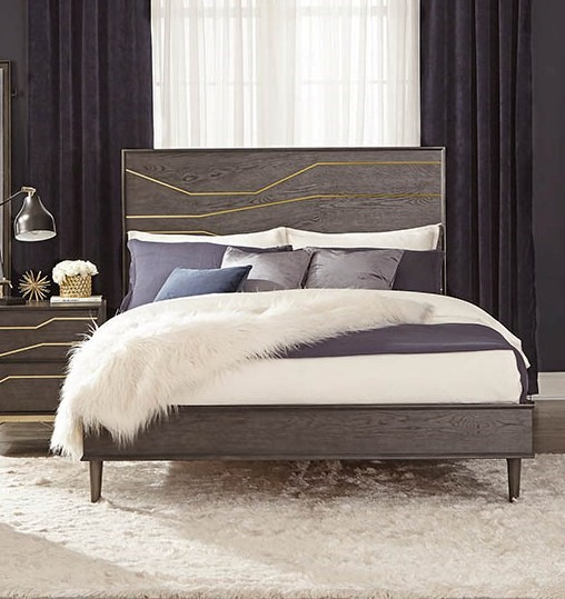 Coaster Furniture Tara Dark Graphite Queen Platform Bed CST-207011Q