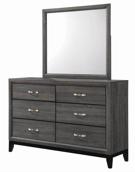 Coaster Furniture Watson Black Grey Dresser and Mirror CST-21242-DRMR-S1