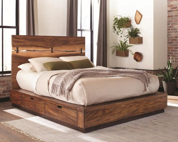 Coaster Furniture Madden Smokey Walnut Storage Cal King Bed CST-212430SKW