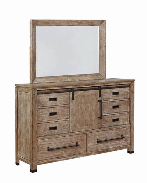 Coaster Furniture Meester Rustic Burn Dresser and Mirror CST-21559-DRMR-S1