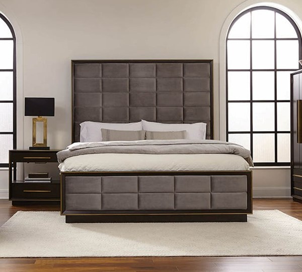 Coaster Furniture Luddington Smoked Peppercorn 2pc Bedroom Set with Queen Bed CST-215711-BR-S1