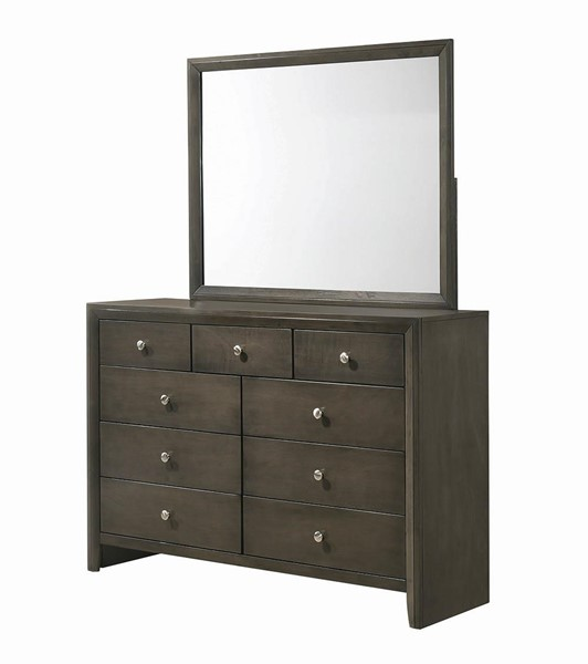 Coaster Furniture Wakefeld Mod Grey Dresser and Mirror CST-21584-DRMR