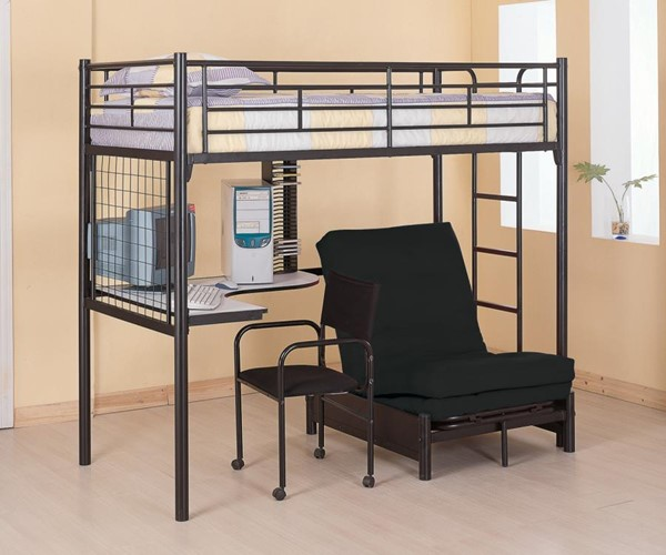 Coaster Furniture Jenner Black Twin Loft Bed - Pad Not Included CST-2209