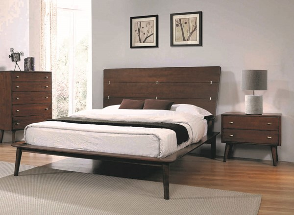 Coaster Furniture Wenham Burnt Sugar 2pc Bedroom Set with Queen Bed CST-22260-BR-S1