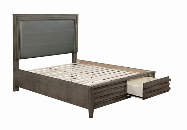 Coaster Furniture Opal Dark Taupe Grey King Storage Bed CST-222620KE
