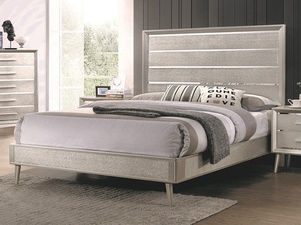 Coaster Furniture Ramon Metallic Sterling King Bed CST-222701KE