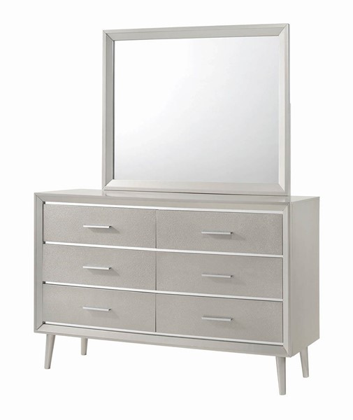 Coaster Furniture Ramon Metallic Sterling Dresser and Mirror CST-22270-DRMR