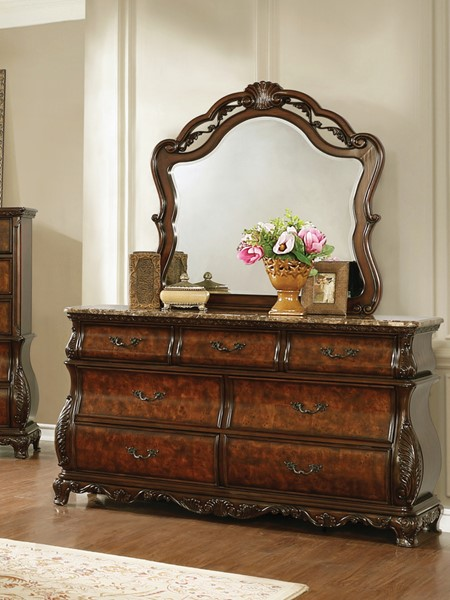 Coaster Furniture Exeter Dark Burl Dresser And Mirror CST-222753-DRMR