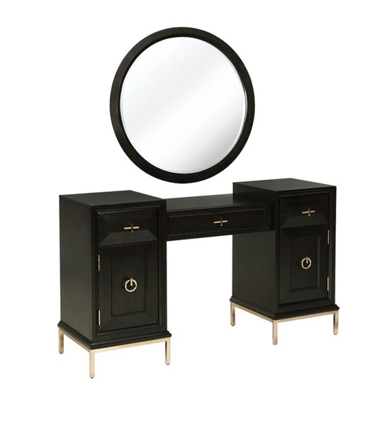 Coaster Furniture Formosa Americano Vanity Desk with Mirror CST-222827-VNTY-DSK